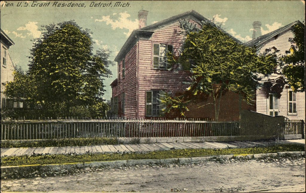 Color postcard of the Grant Home in 1910